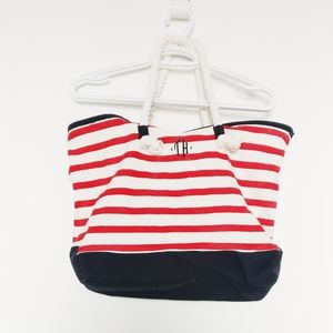 NWOT Tommy Hilfiger Striped Beach Tote